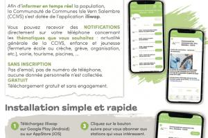 Nouveau - application mobile CCIVS illiwap