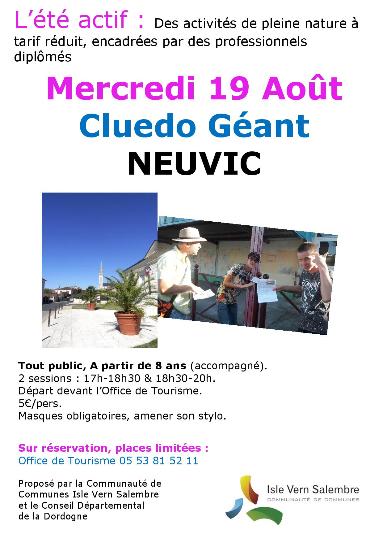 19 aout Cluedo Neuvic